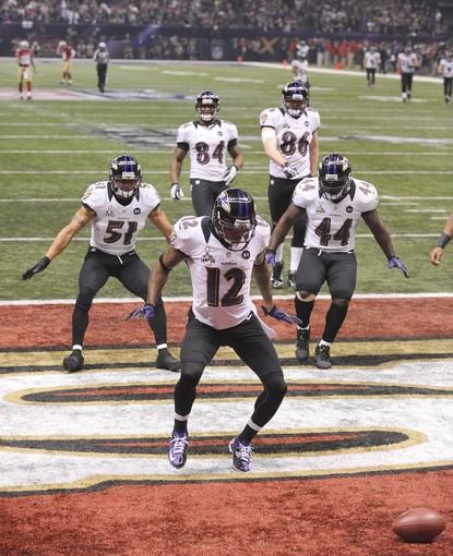 Ravens dancing